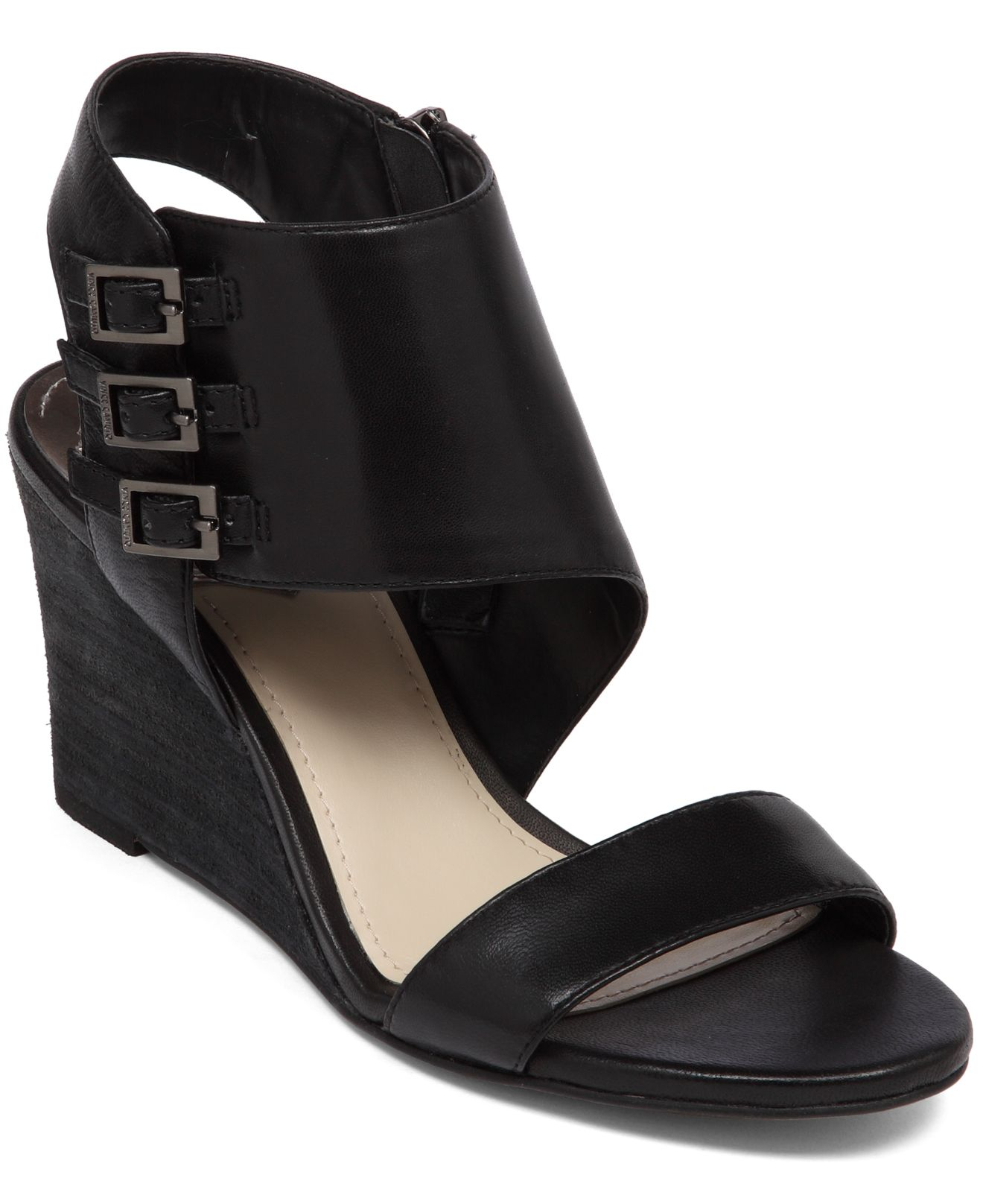 Vince Camuto Lyssia Wedge Sandals In Black Lyst
