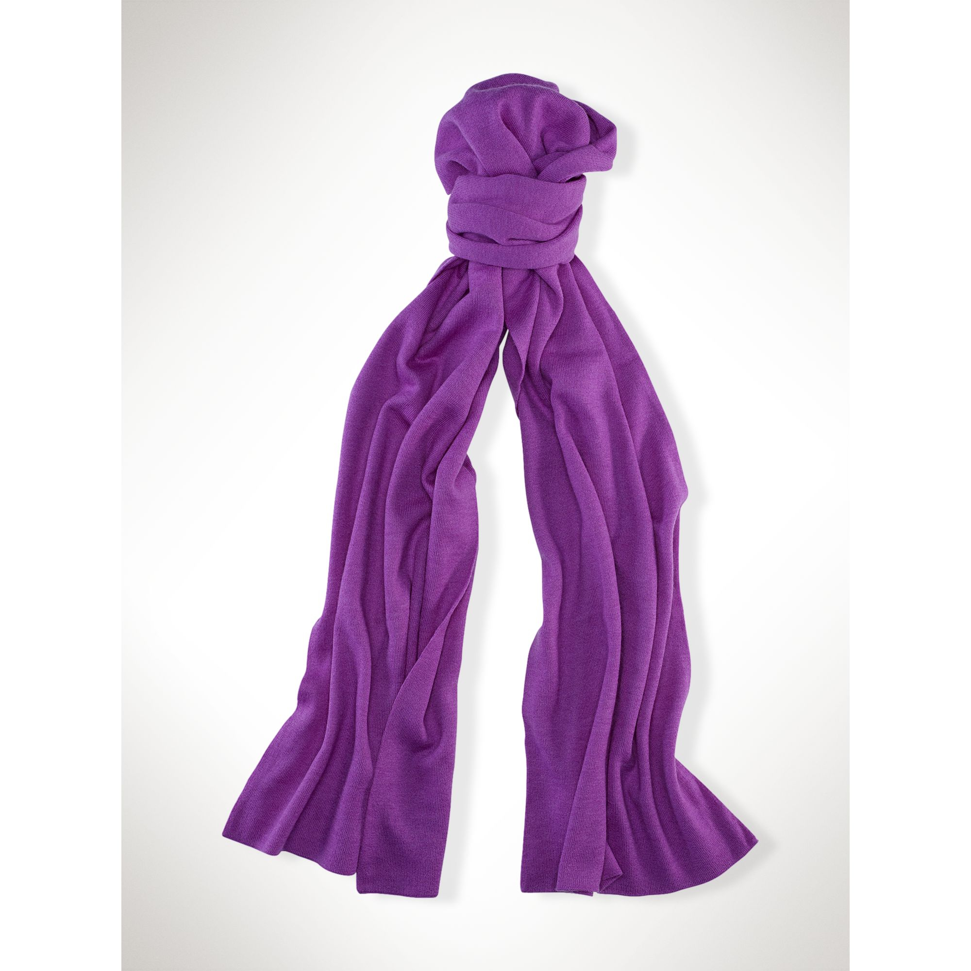 ralph vibrant merino wool scarf in purple lyst