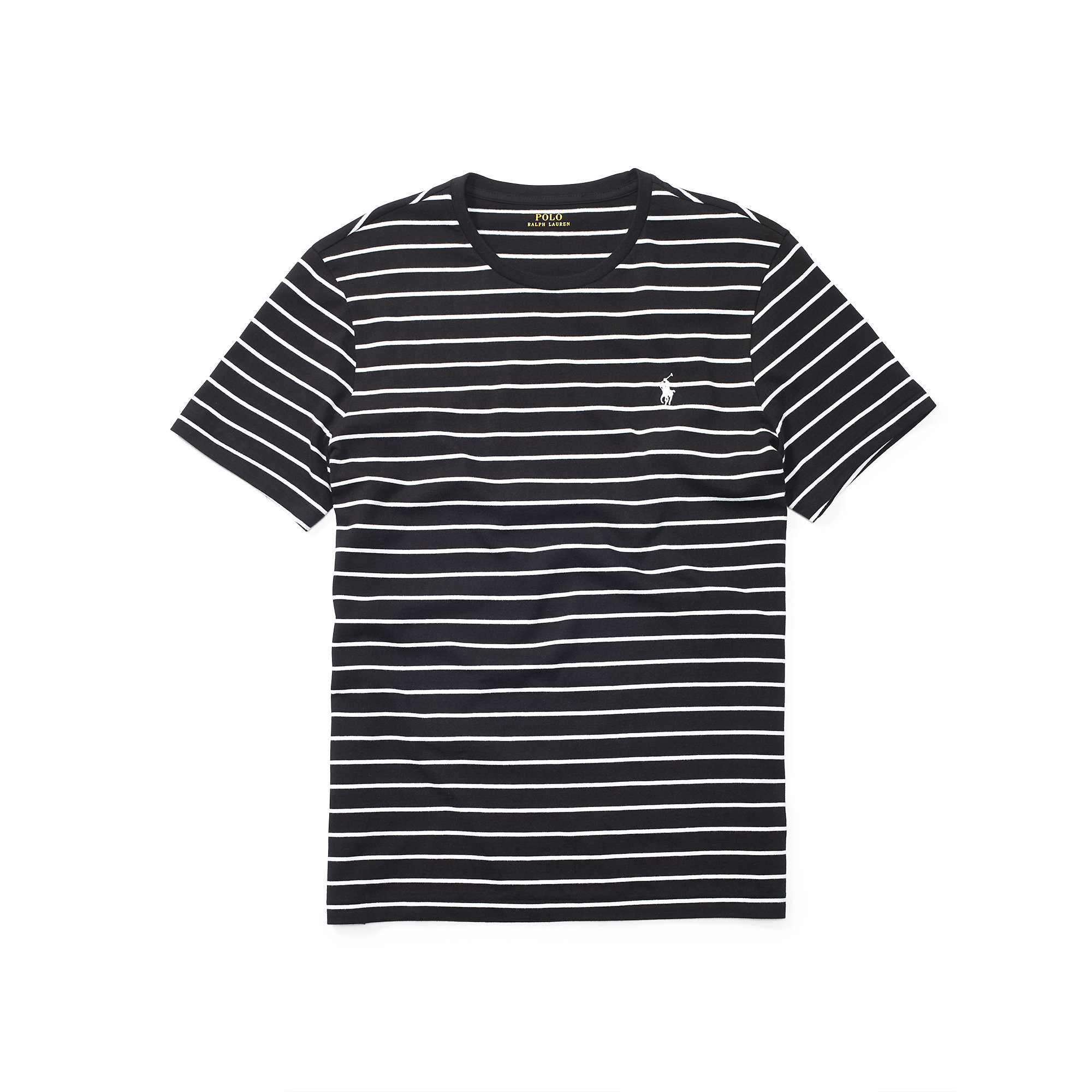 5cdfce6b low price lyst polo ralph lauren striped cotton jersey t shirt in black for  men 1fc84