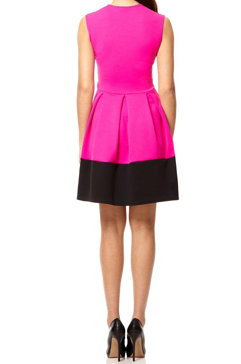 Pink lace neck dress
