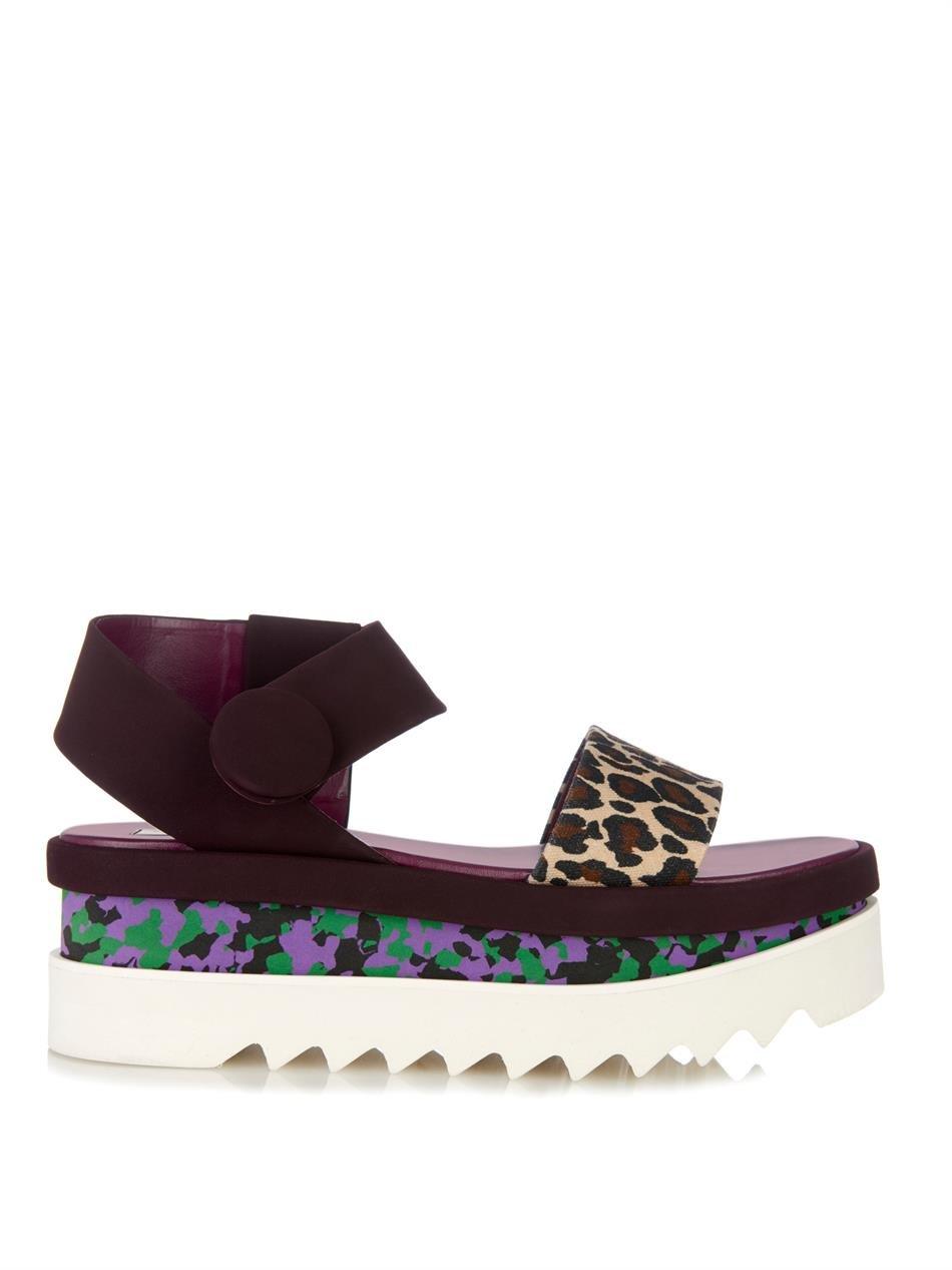 Lyst Stella Mccartney Cornelia Flatform Sandals In Purple