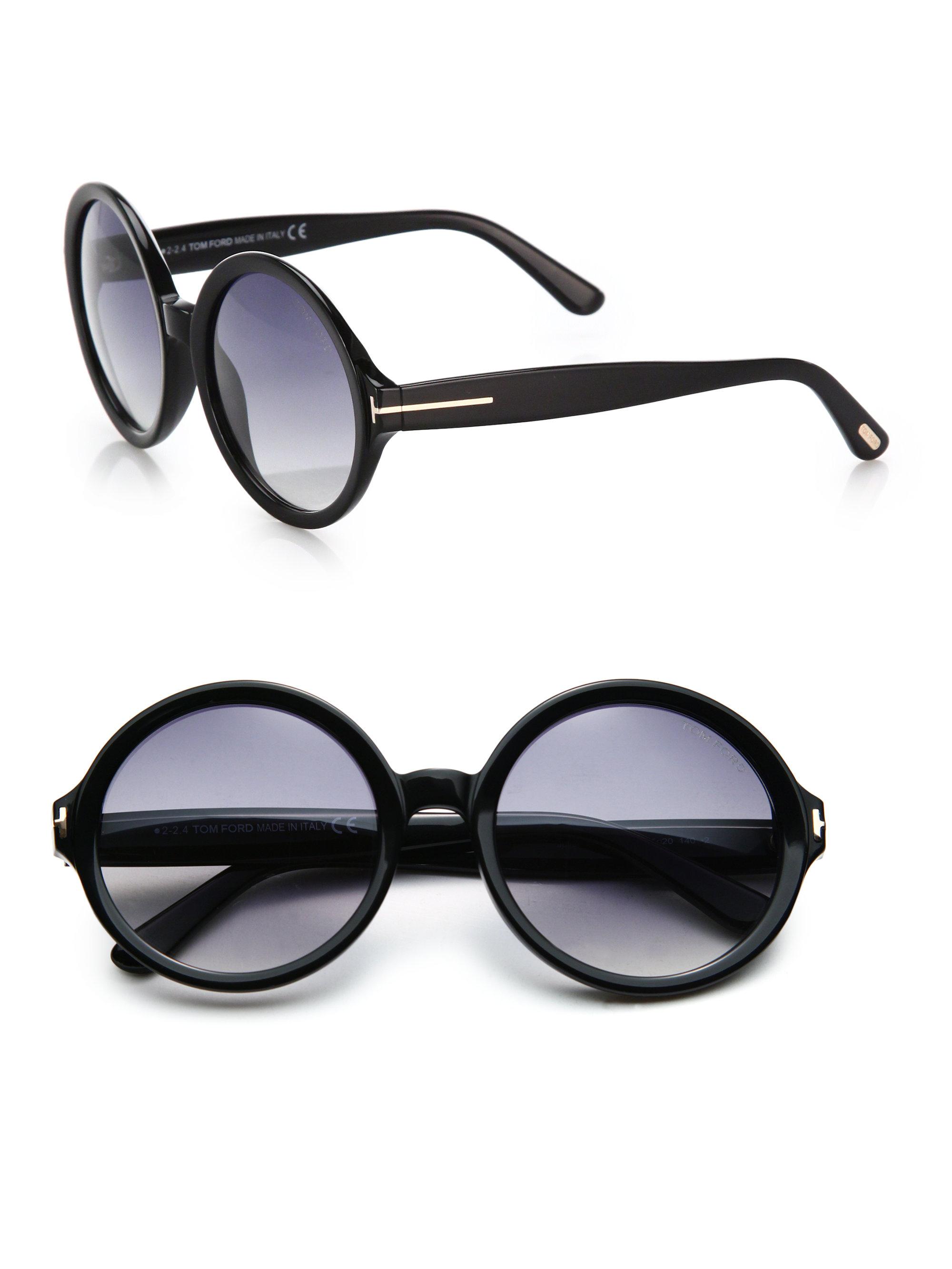Tom ford Juliet 55Mm Round Sunglasses in Black   Lyst Victoria Beckham Scarf