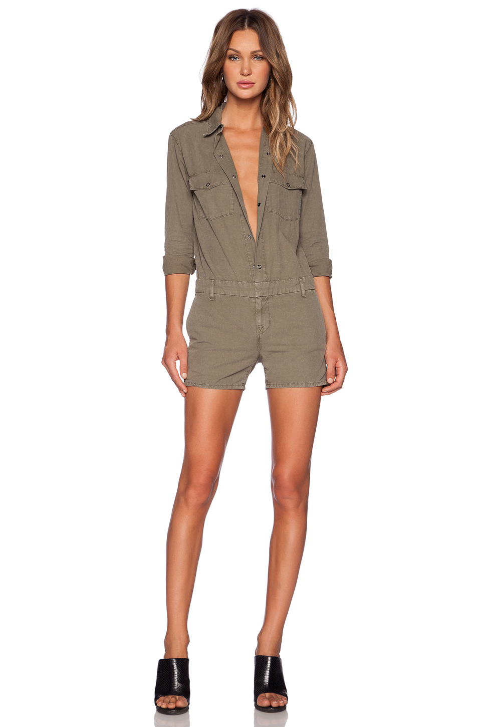 5ee8e790d49 Lyst - J Brand Avery Utility Jumpsuit in Green