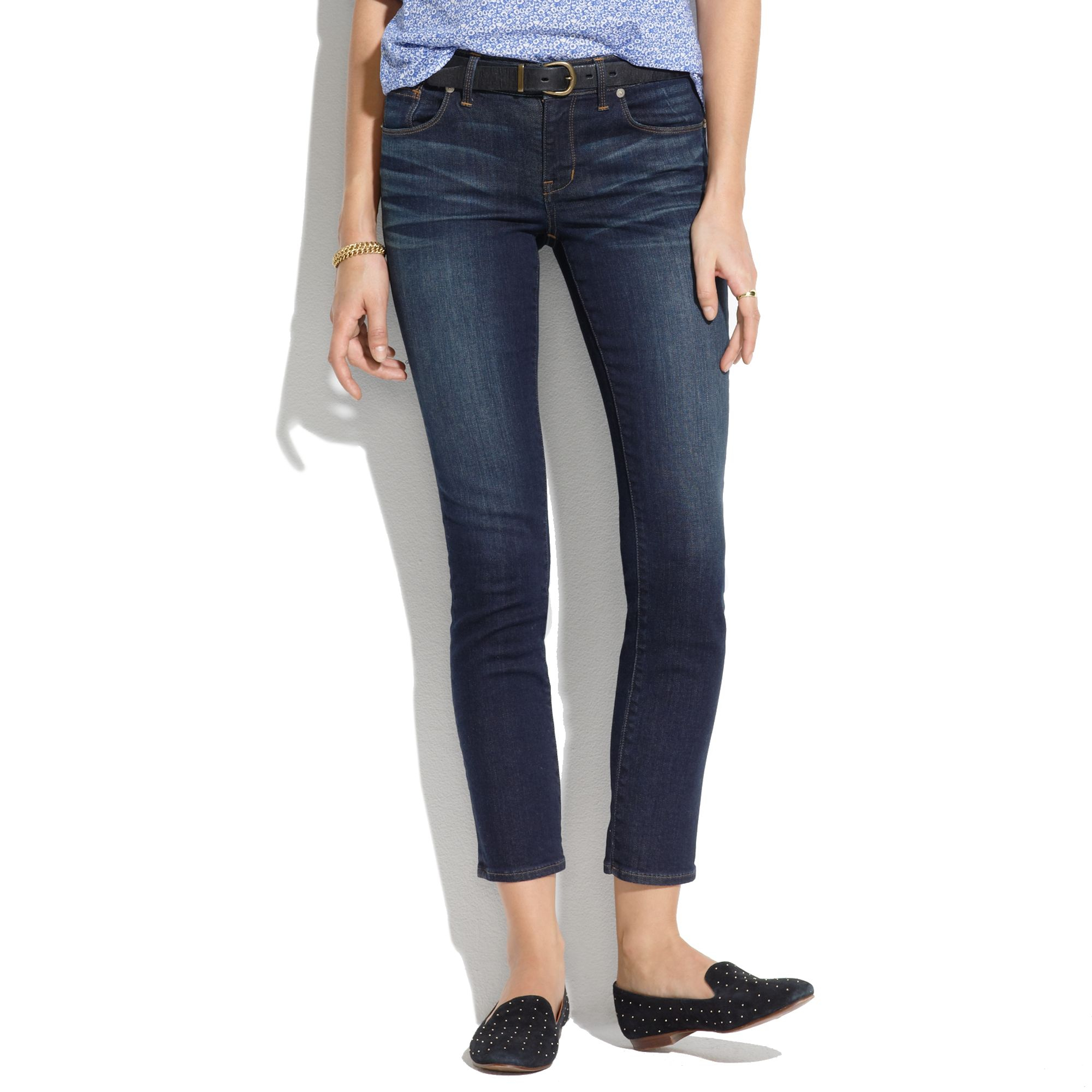 Madewell Skinny Skinny Crop Jeans In Midnight Haze in Blue | Lyst