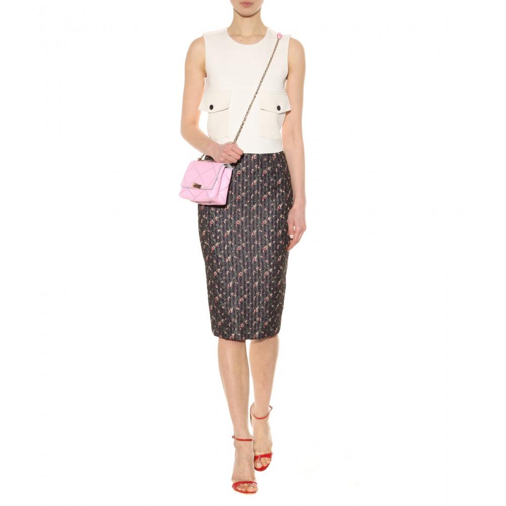 18266280f850 Lyst - Roger Vivier Prismick Micro Leather Shoulder Bag in Pink