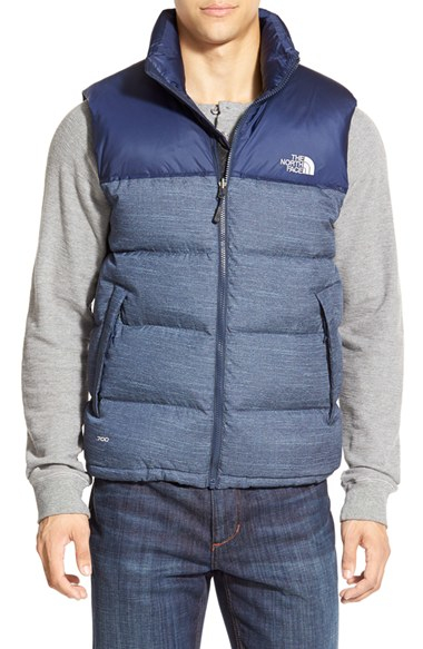 e1465fd665 ... netherlands lyst the north face nuptse packable goose down vest blue in  3fb19 50df1