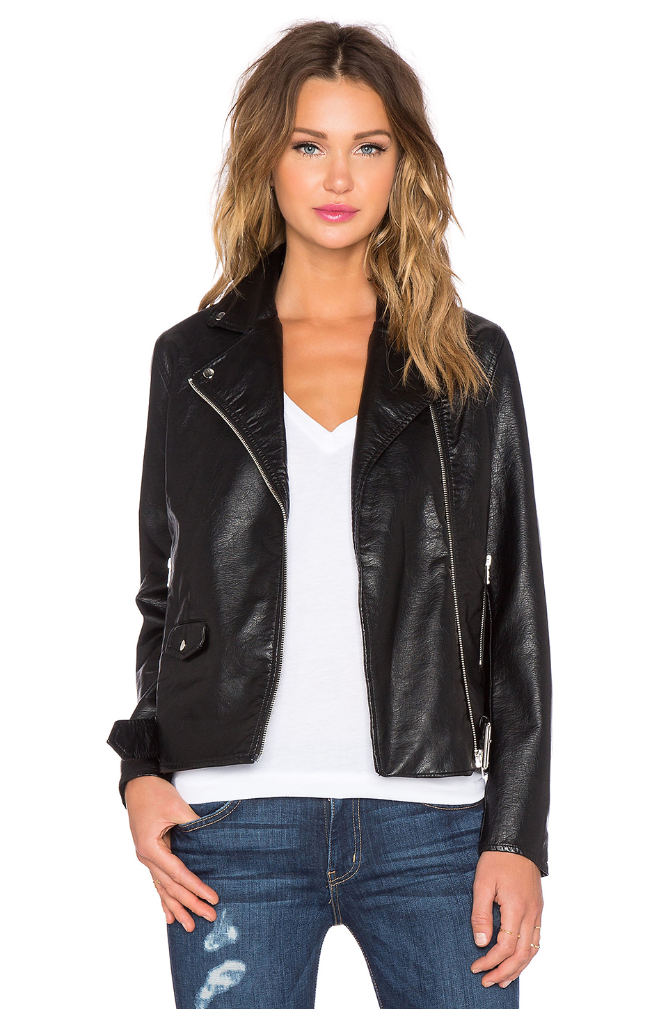 Cheap monday Vicious Faux-Leather Jacket in Black | Lyst