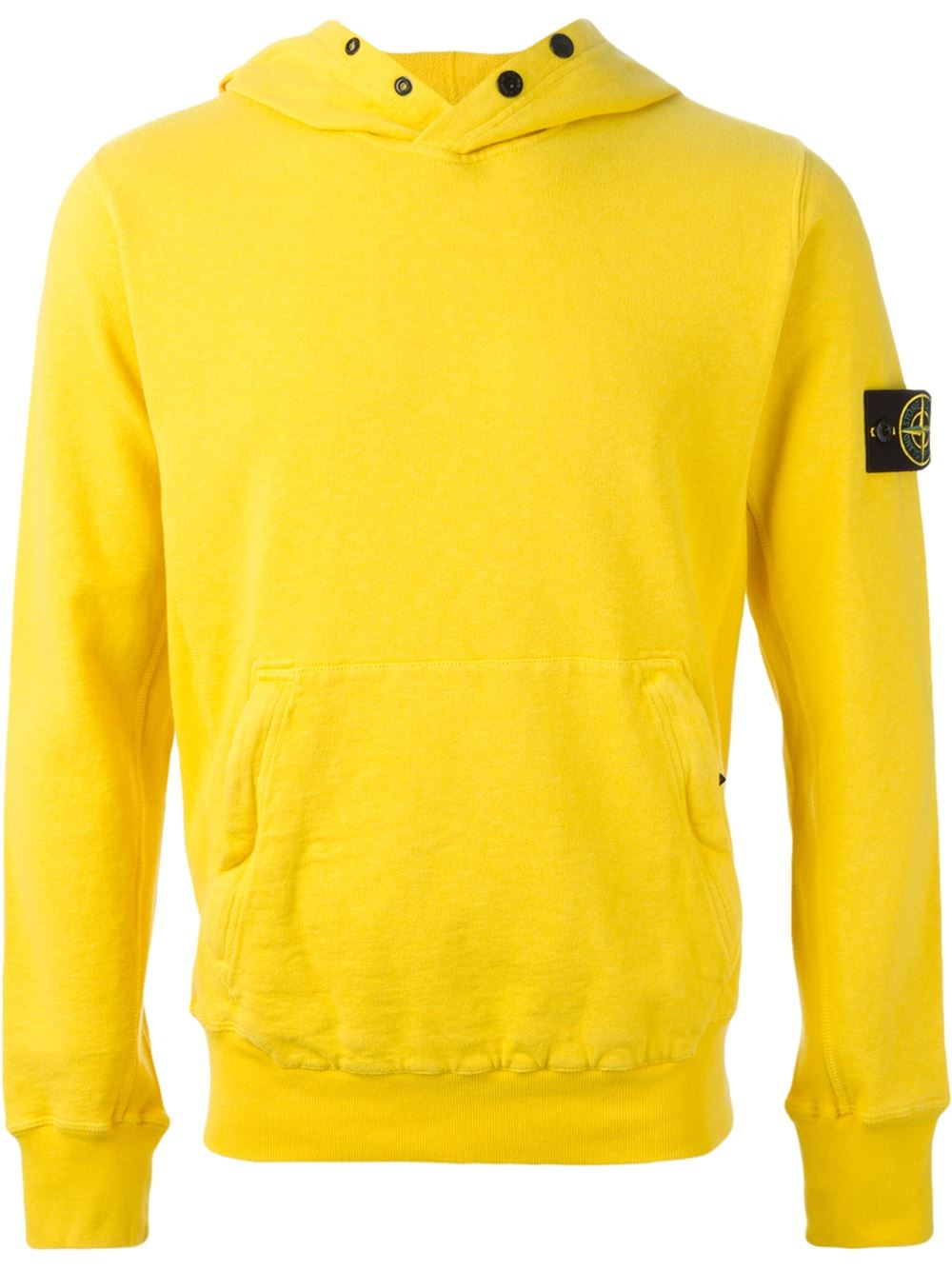 Stone Island Hooded Sweatshirt In Yellow For Men Yellow