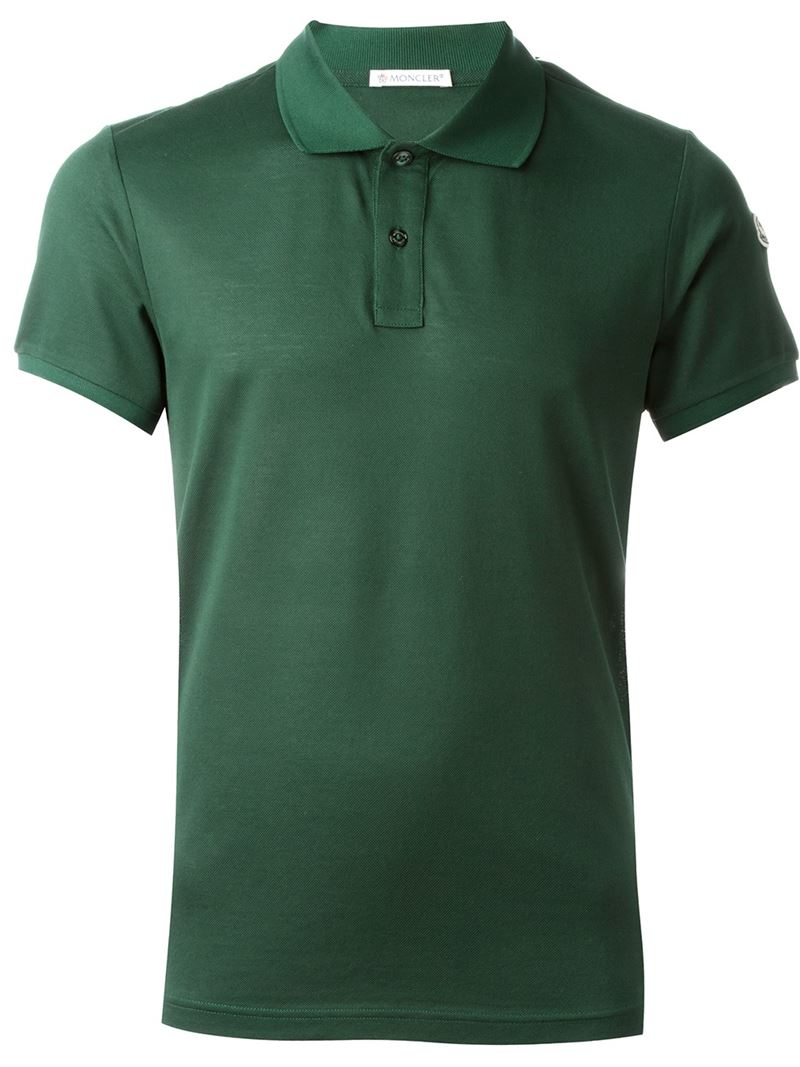 moncler classic polo shirt in green for men lyst. Black Bedroom Furniture Sets. Home Design Ideas