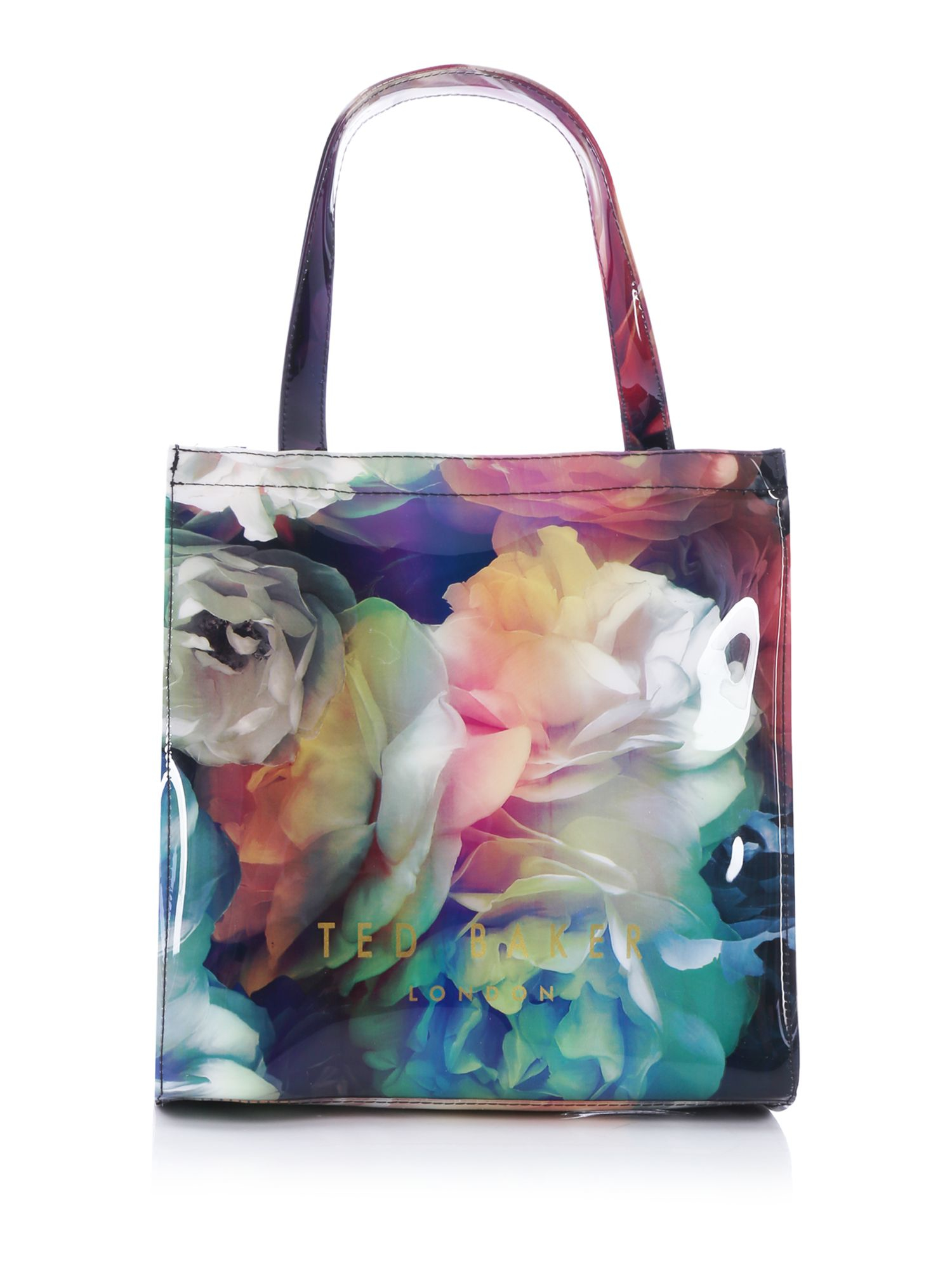 Ted Baker Bowcon Black Floral Small Tote Bag With Umbrella