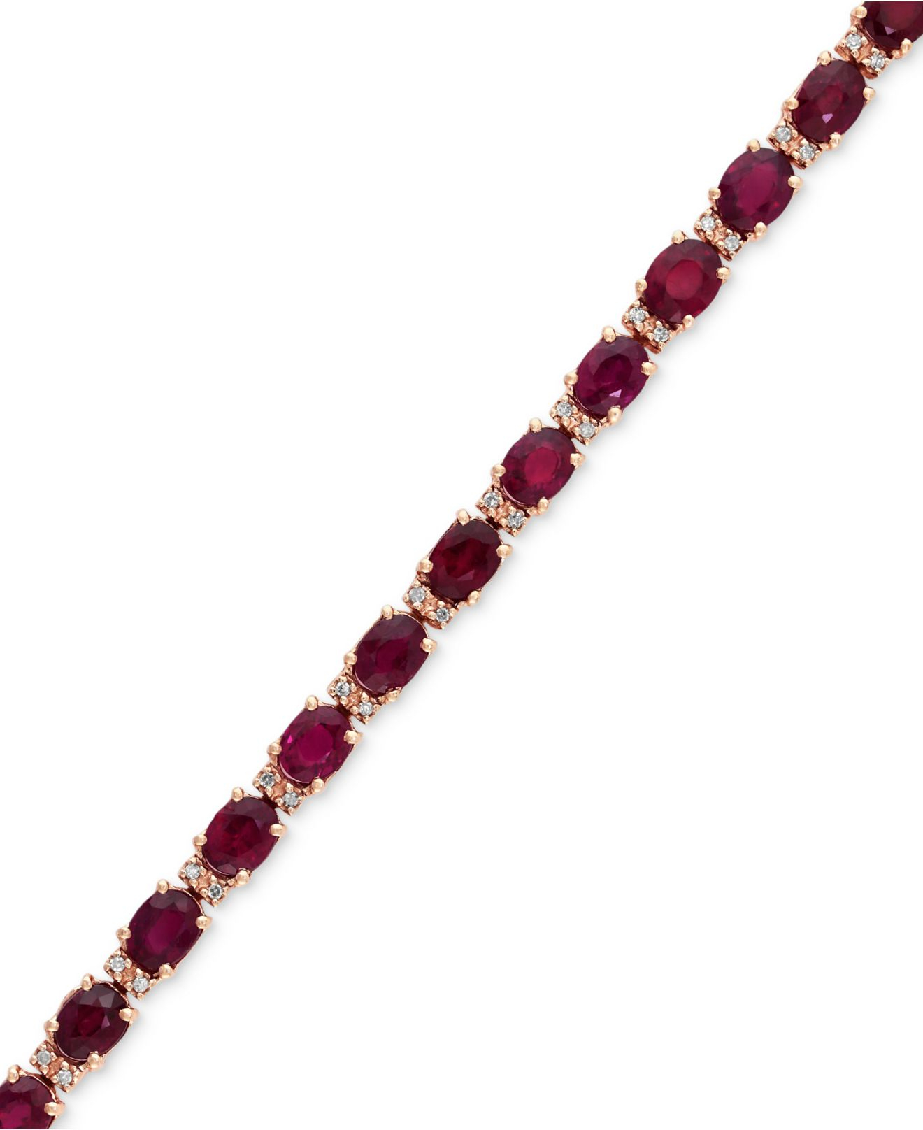 Effy Collection Effy Ruby 12 Ct T W And Diamond 1 4