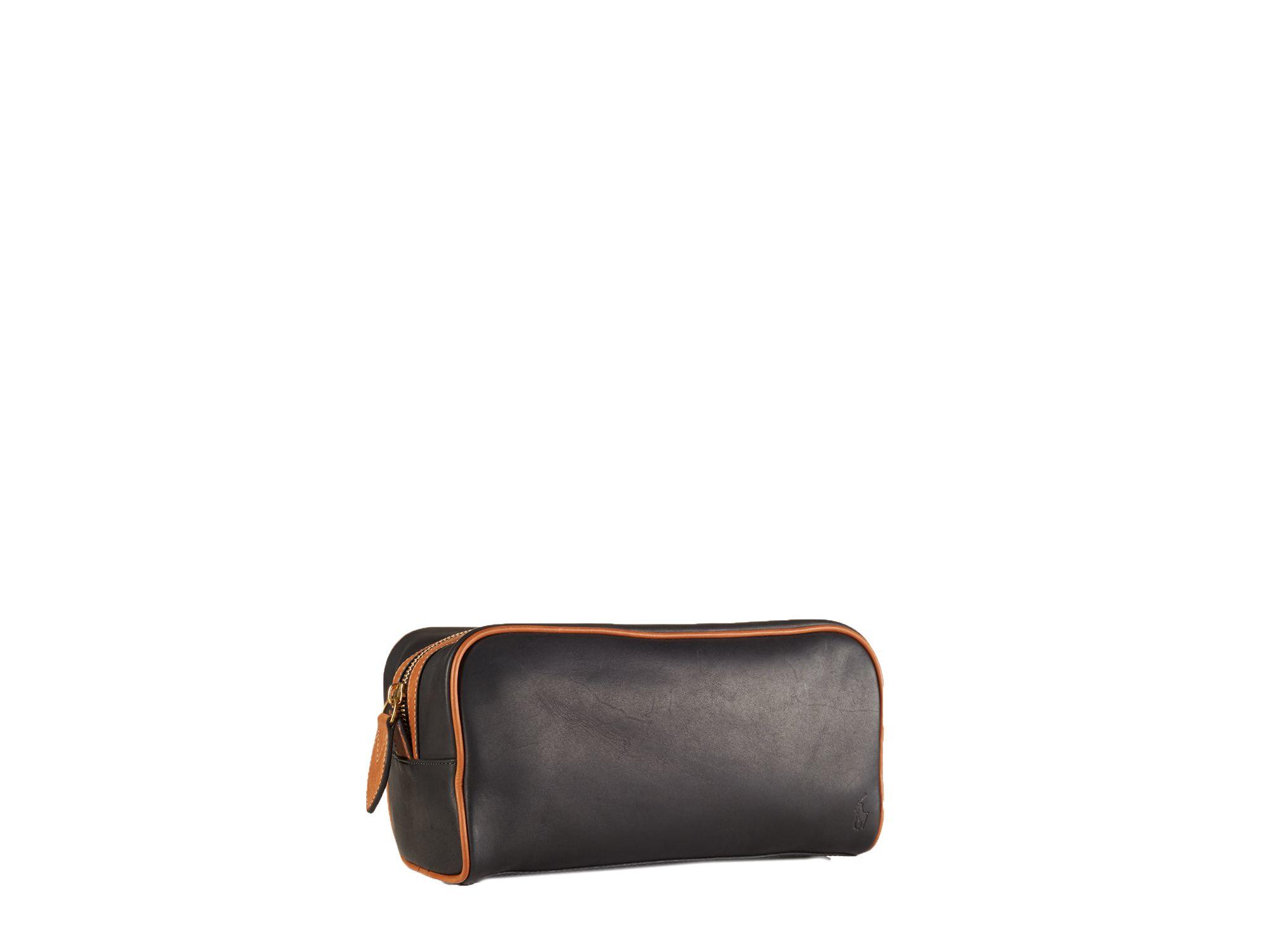 993f8010b4c6 Lyst - Ralph Lauren Polo Core Leather Shaving Kit in Black for Men