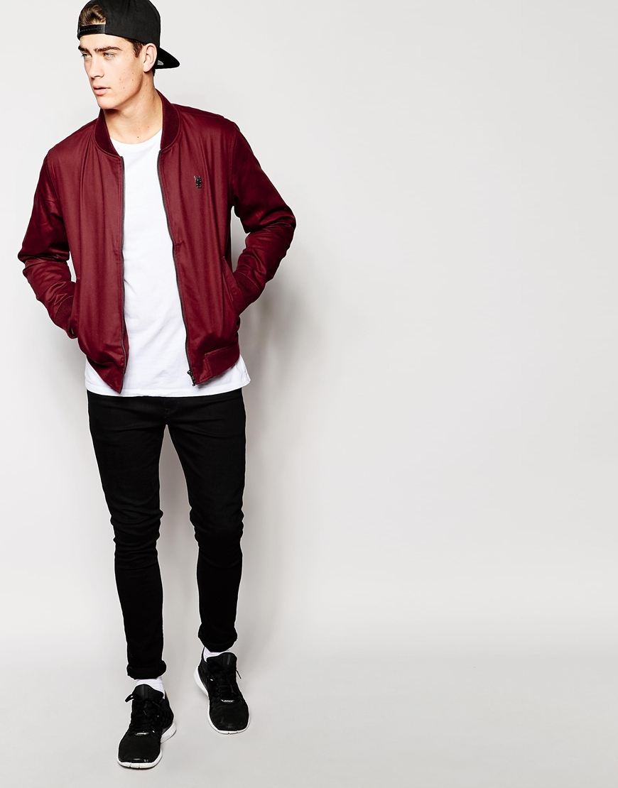 Wesc Baseball Jacket in Red for Men | Lyst