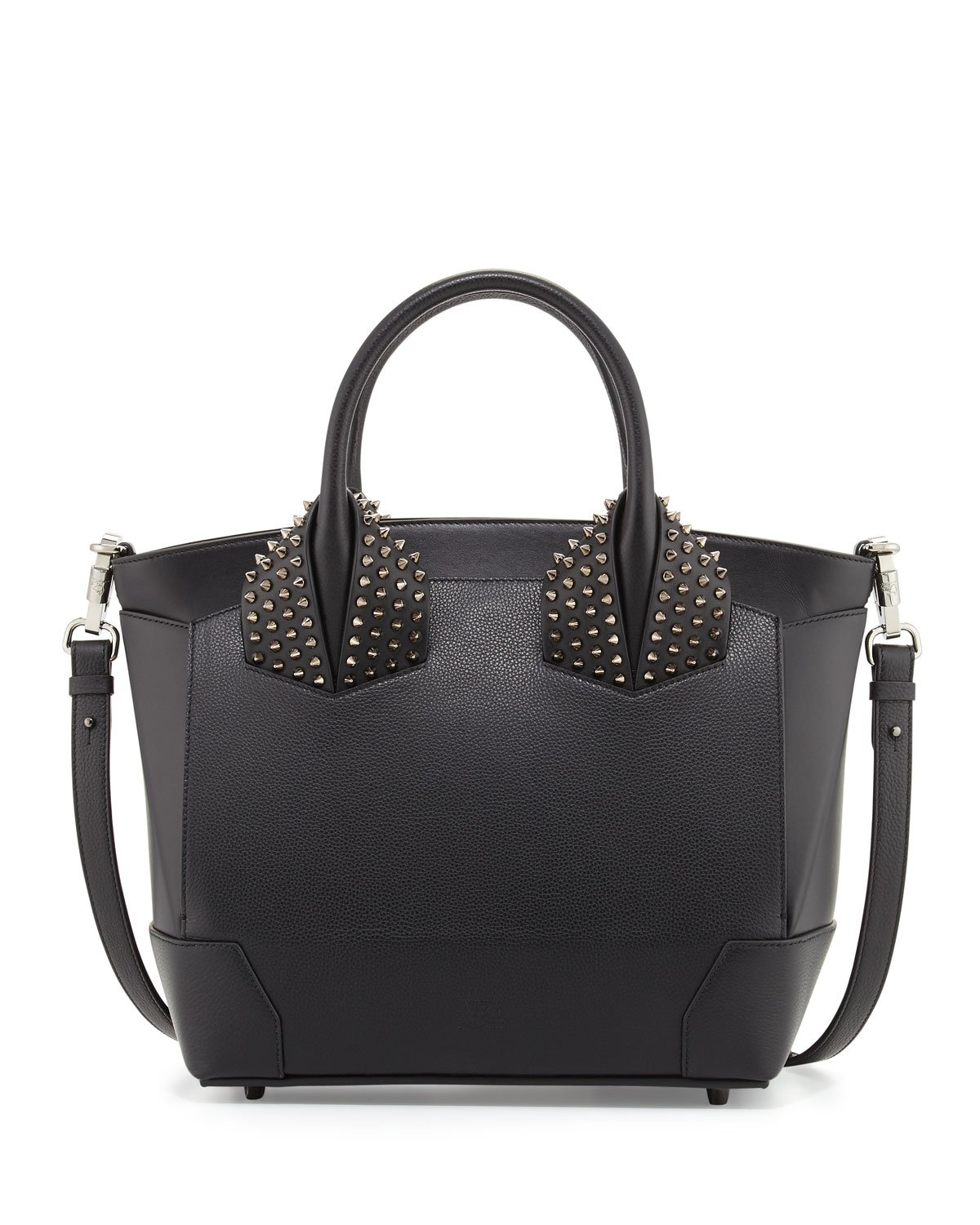 Christian Louboutin Eloise Large Leather Tote Bag In Black