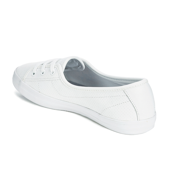 c0be5e6162d2 Lacoste Women s Ziane Chunky 116 2 Leather Lace Pumps in White - Lyst