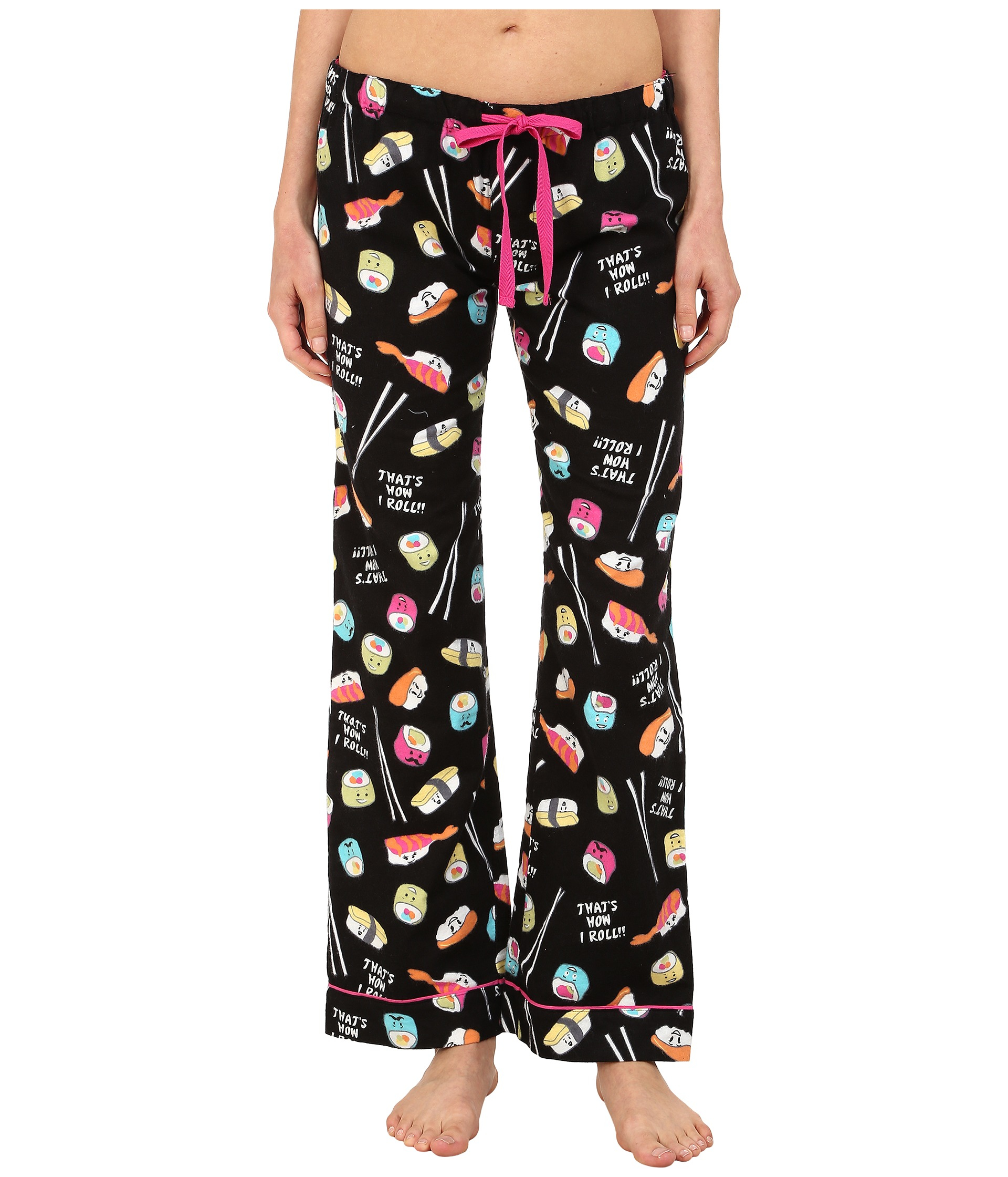 fdaf29aa954 Lyst - Pj Salvage Sushi Flannel Sleep Pants in Black