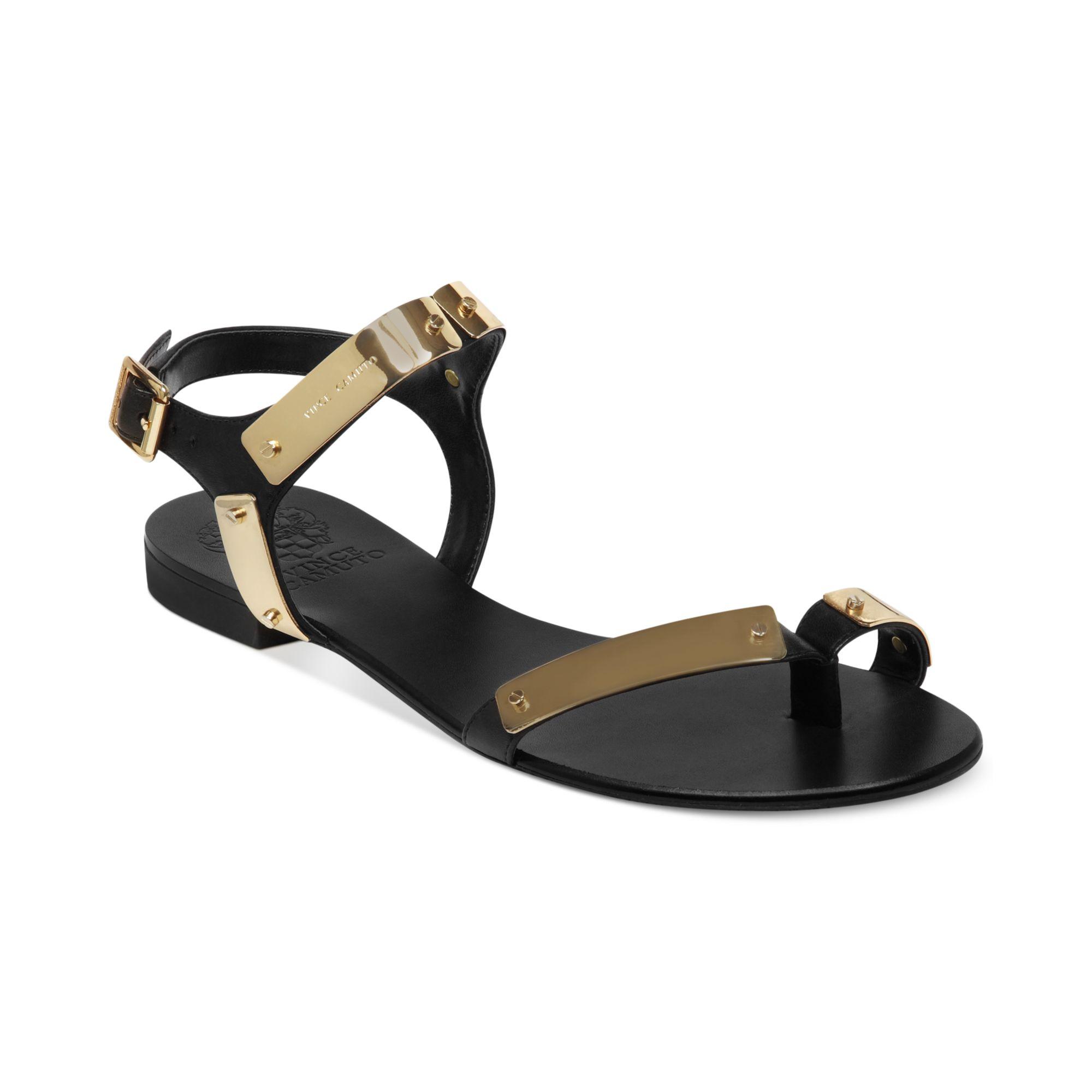 3c6731a89503 Lyst - Vince Camuto Joslyn Flat Sandals in Metallic