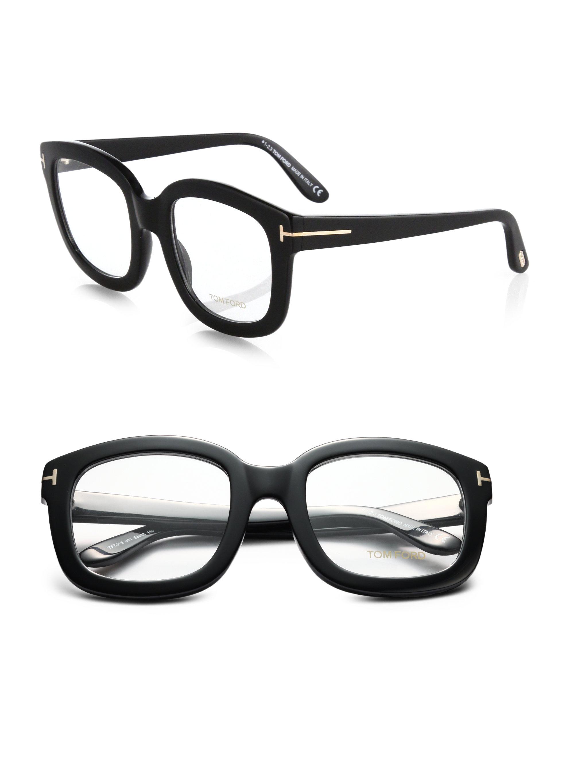 Lyst - Tom Ford Oversized Acetate Eye Glasses in Black