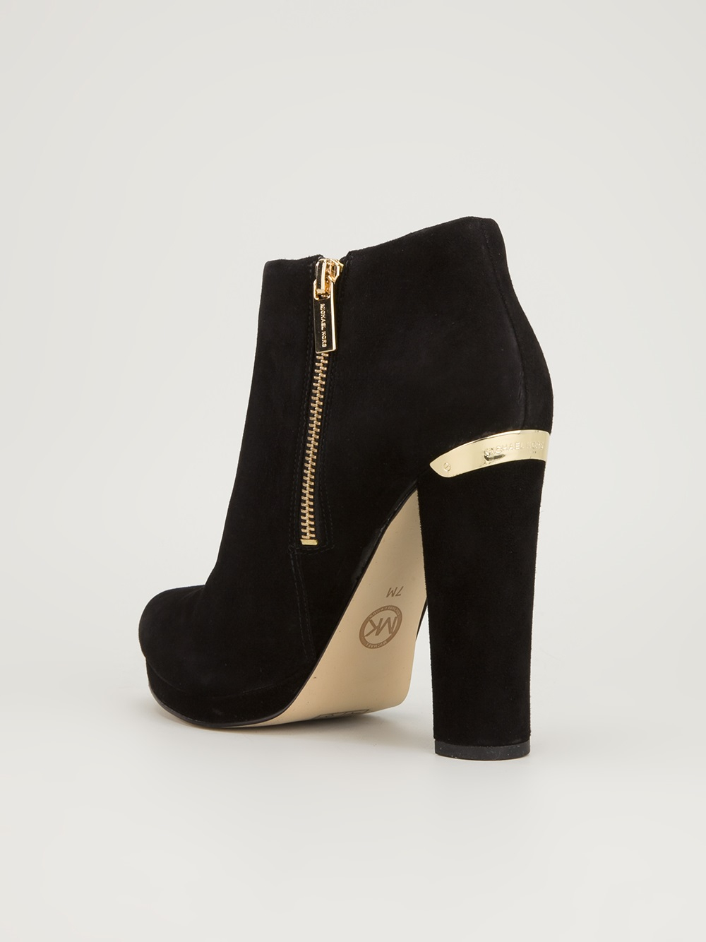 michael michael kors platform ankle boot in black lyst. Black Bedroom Furniture Sets. Home Design Ideas