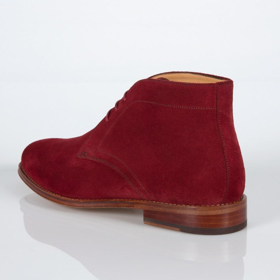paul smith s burgundy suede desert boots in