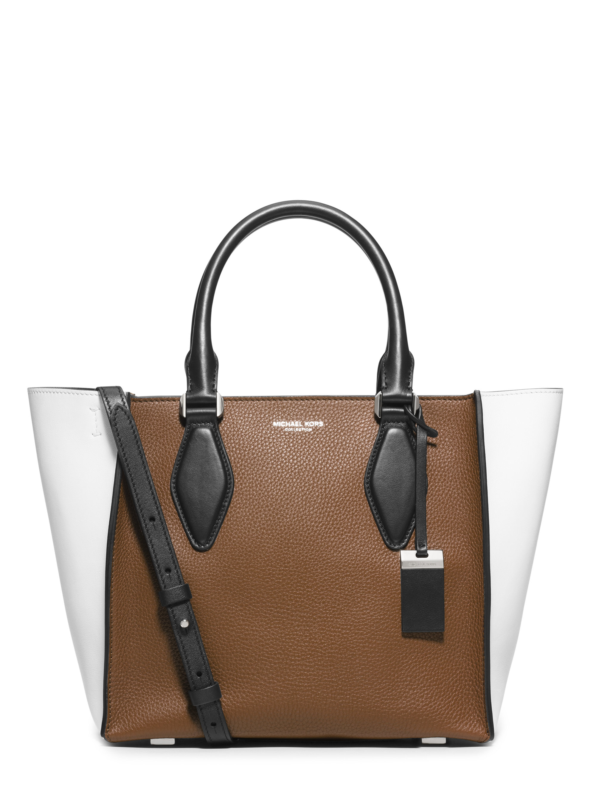8fdc1d9fe10993 Michael Kors Gracie Medium Colorblock Leather Tote in Brown - Lyst