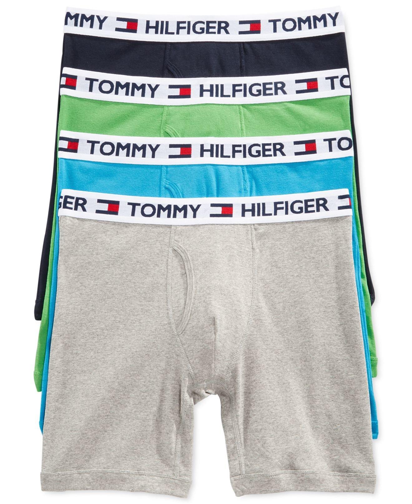 tommy hilfiger athletic boxer brief 4 pack in blue for men lyst. Black Bedroom Furniture Sets. Home Design Ideas