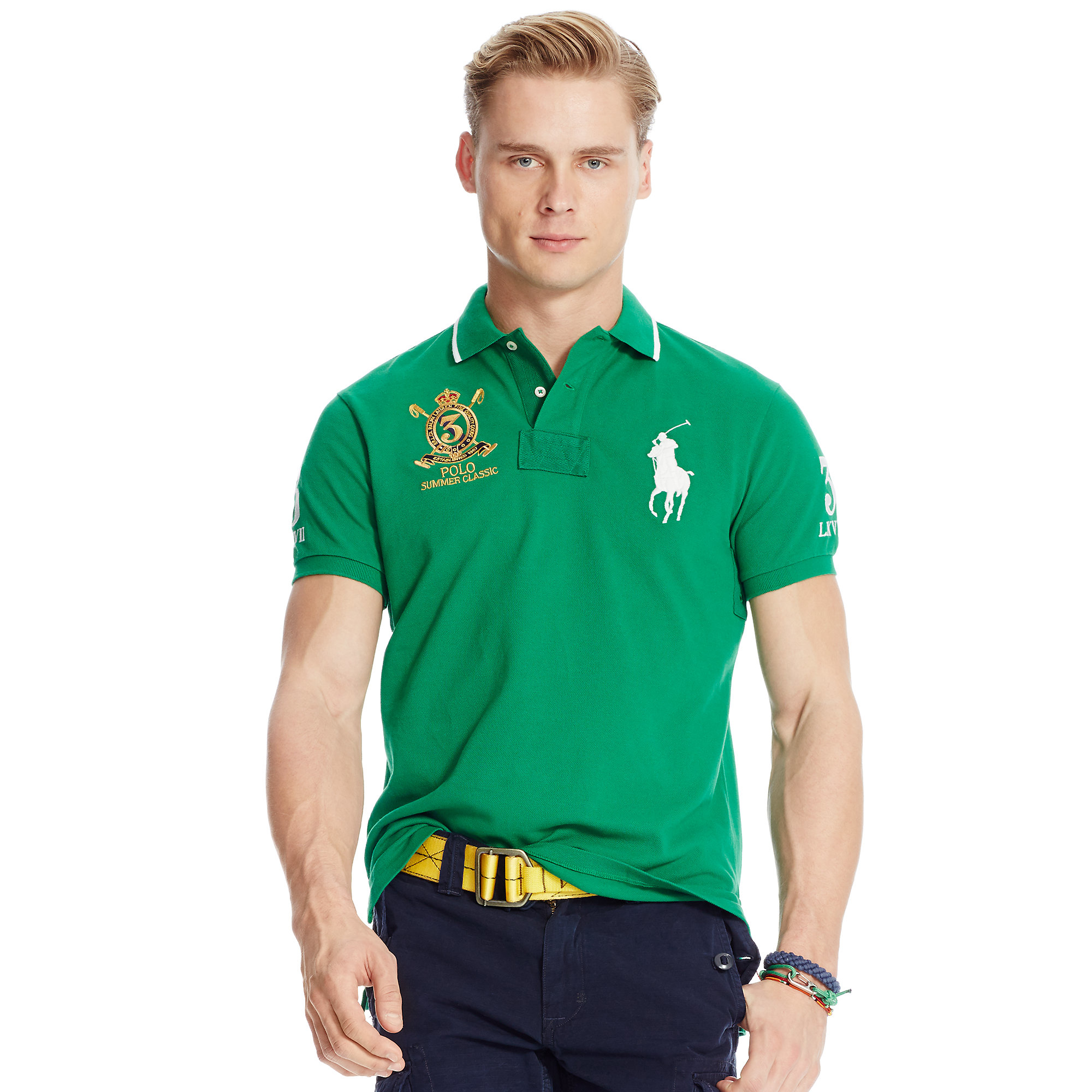 425e75ba17689 Lyst - Polo Ralph Lauren Classic-fit Big Pony Polo in Green for Men