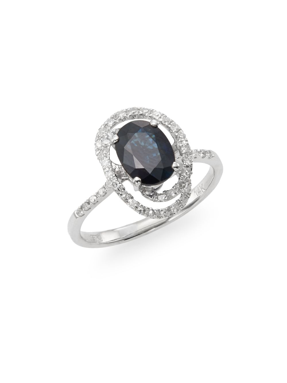 Effy Black And White Diamond Ring