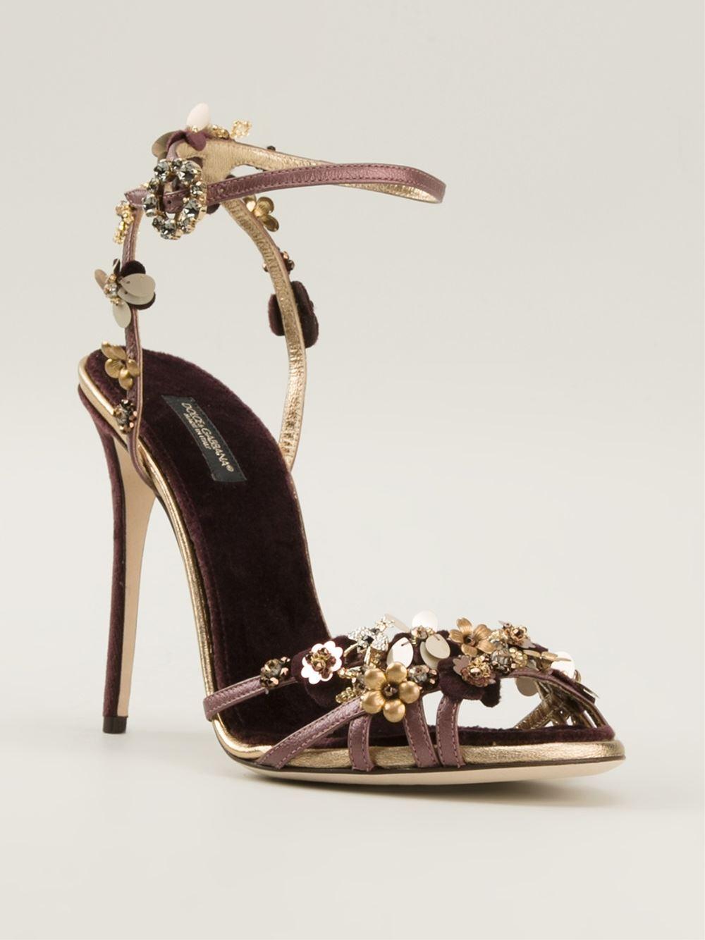 114f6391050 Lyst - Dolce   Gabbana  Bellucci  Sandals in Pink
