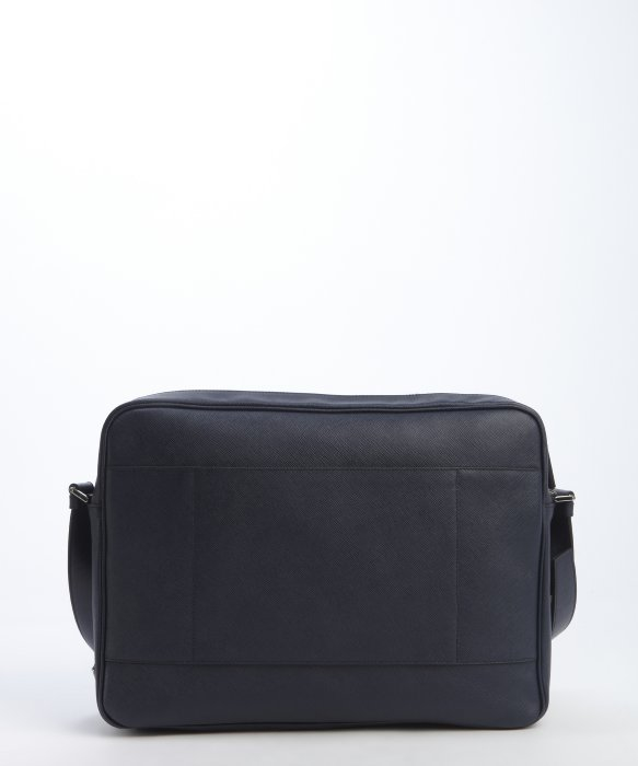 prada mens leather messenger bag