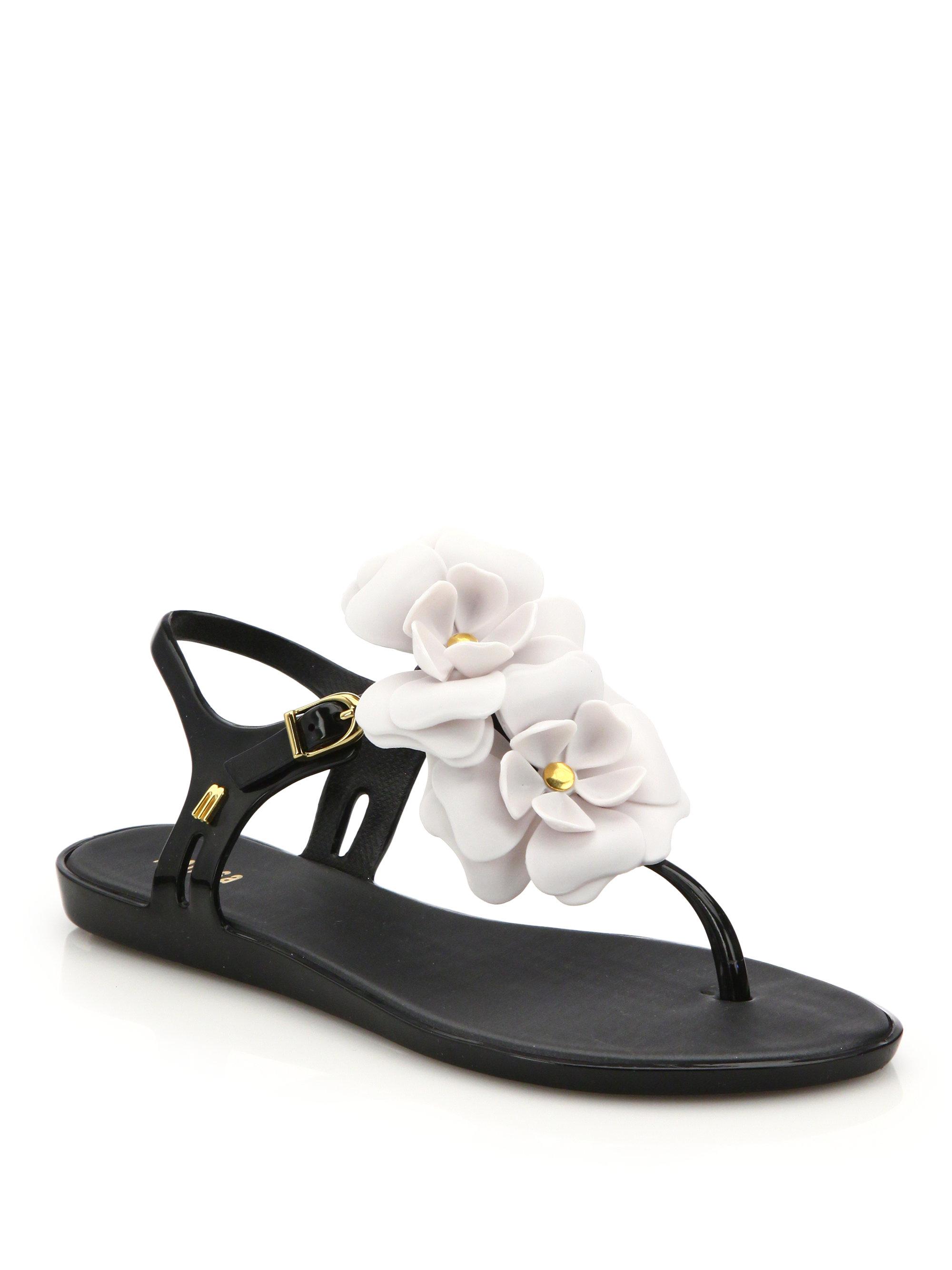 6024730dc61d Lyst - Melissa Solar Garden Ii Rose Sandals in Black