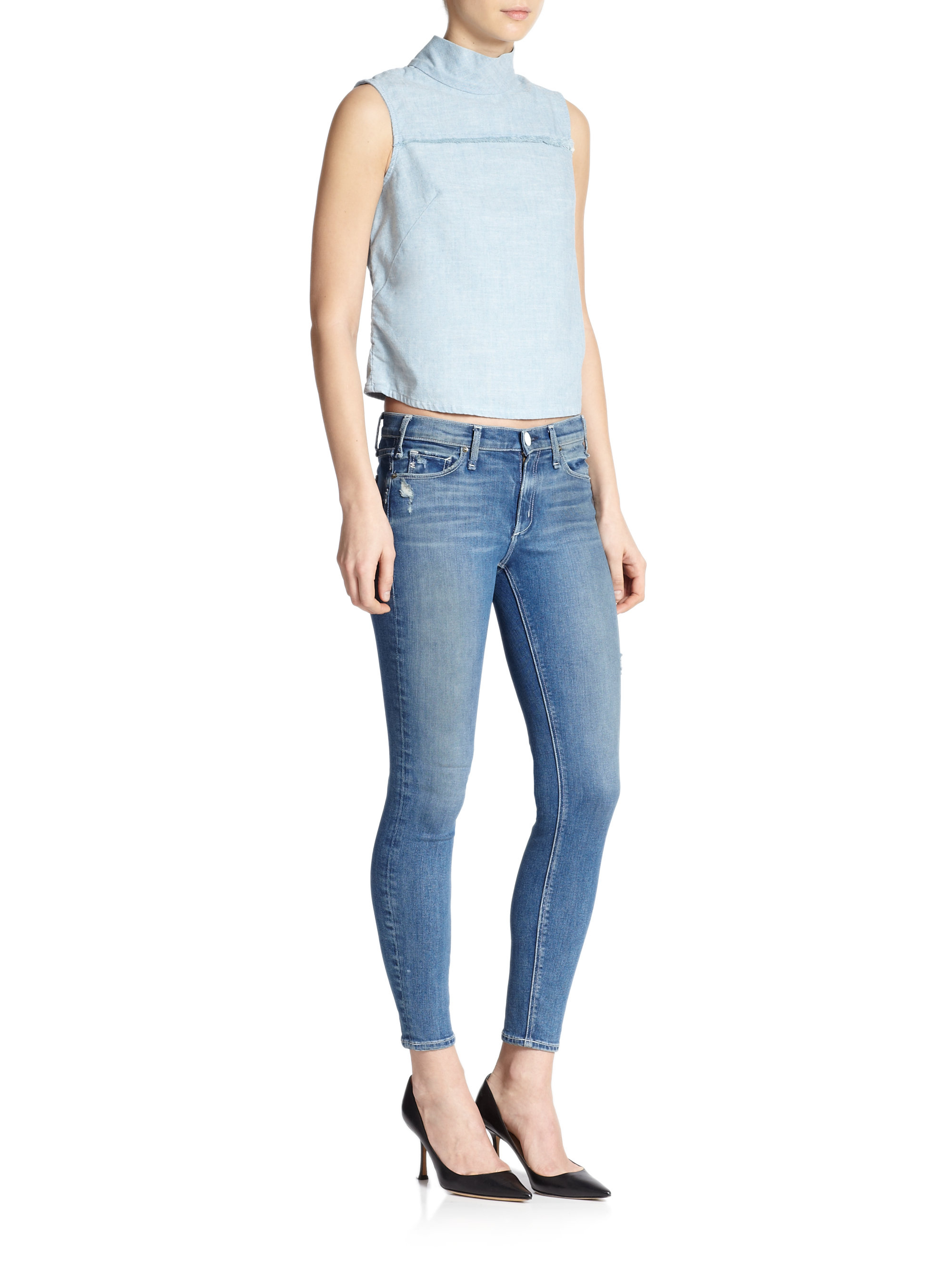 Mcguire Newton Skinny Jeans in Blue | Lyst