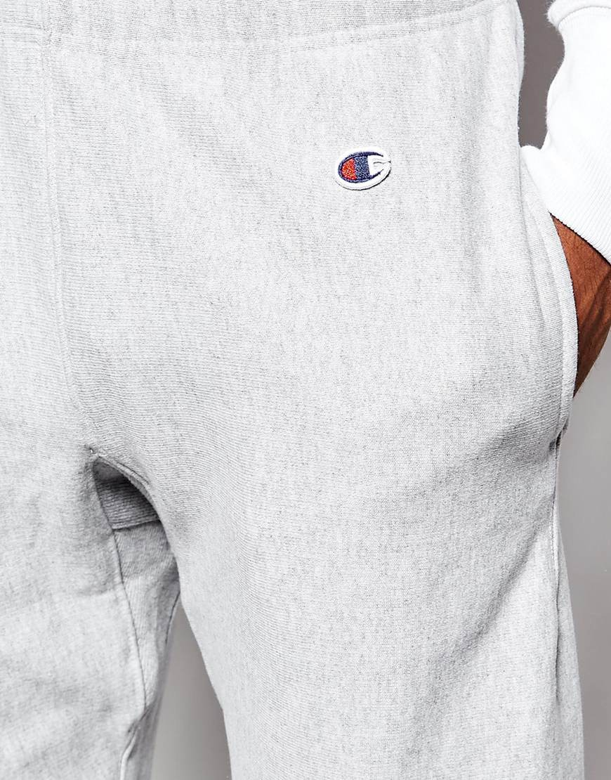 Lyst Champion Sweat Shorts With Small Logo In Gray For Men