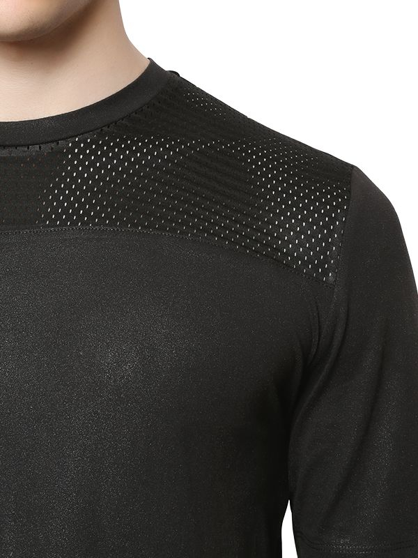 fa1534432d819 Lyst - Diesel Black Gold Perforated Coated Cotton Jersey T-shirt in ...