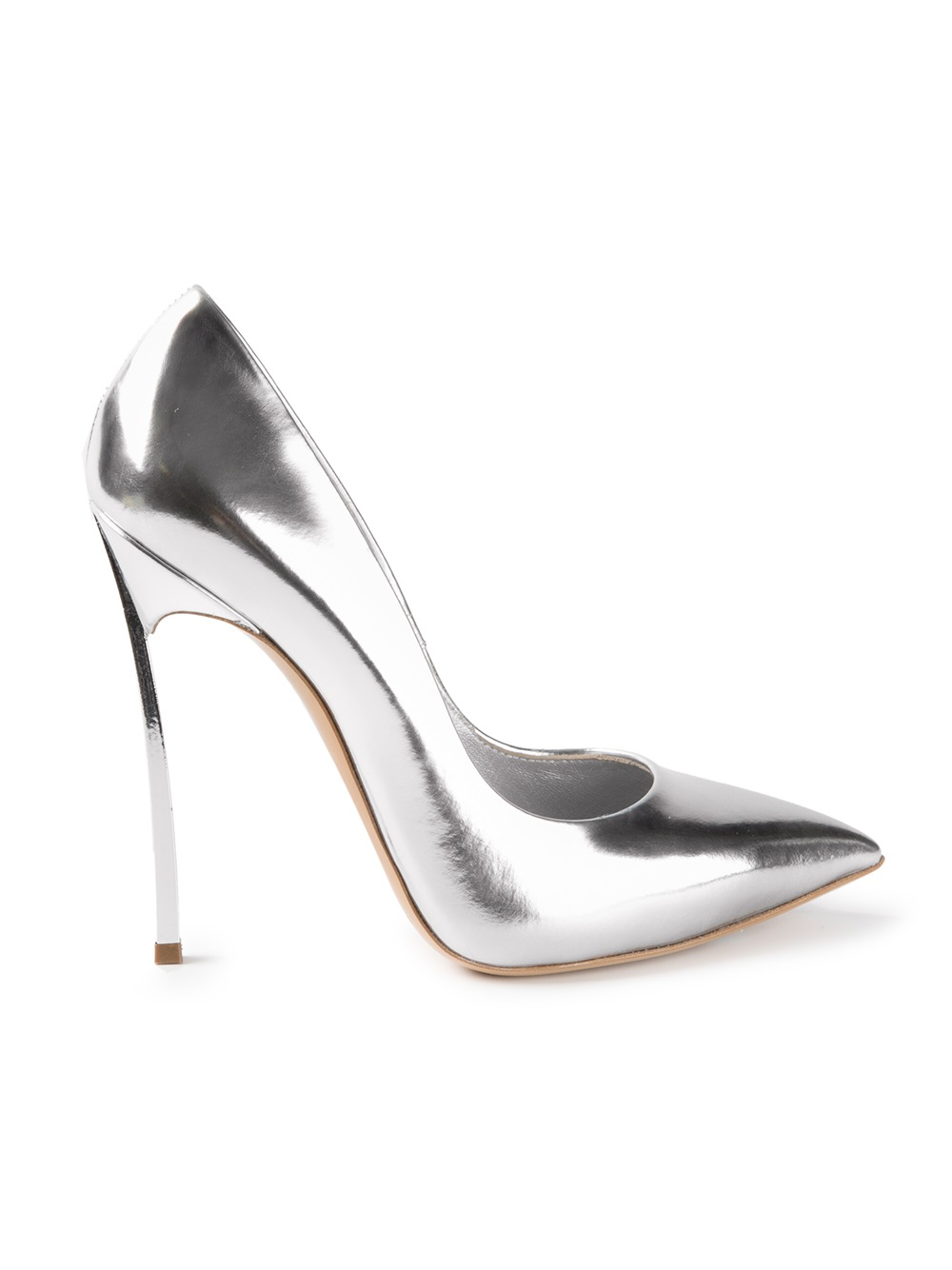 Casadei High Heel Pumps in Metallic | Lyst