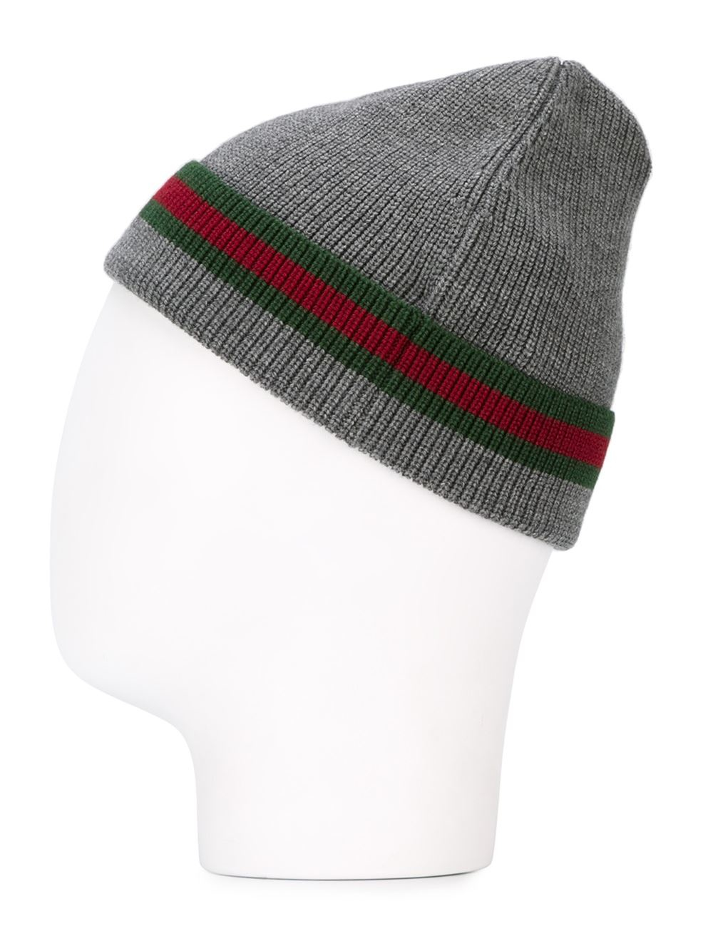 Lyst Gucci Wool Silk Beanie Hat In Gray For Men