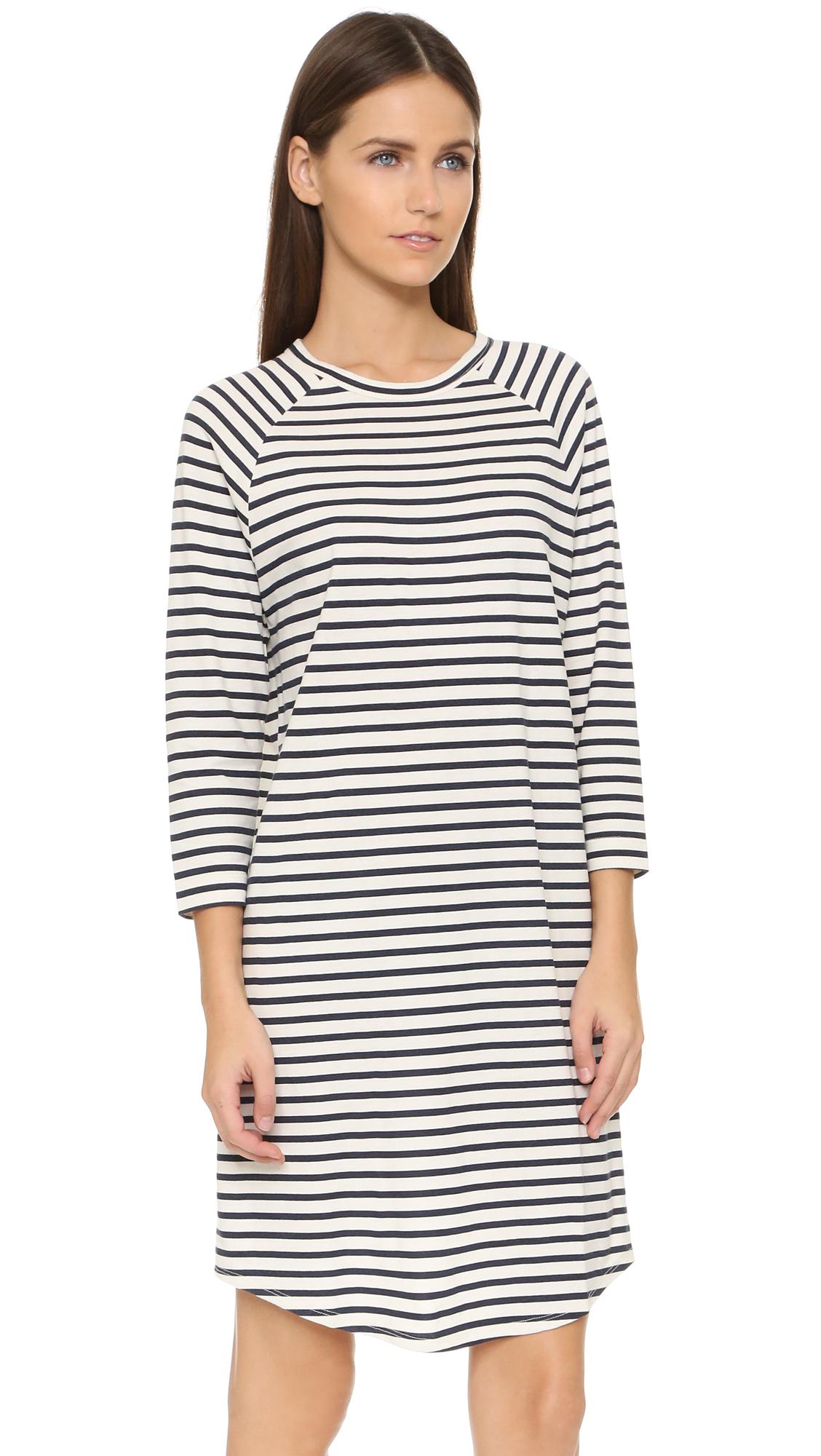 6397 Stripe Long Sleeve Dress in Blue  Lyst