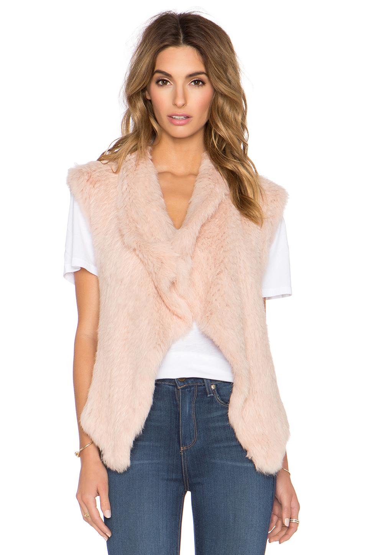 Nicholas Knitted Fur Vest in Pink | Lyst Giorgio Armani Jacket
