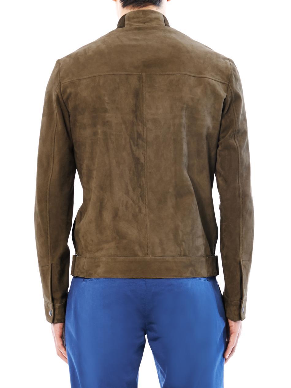 Lyst Rake Suede Flight Jacket In Brown For Men
