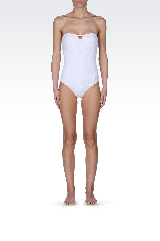 hot sale online c3eda 39f4e Emporio Armani White Swimming Costume