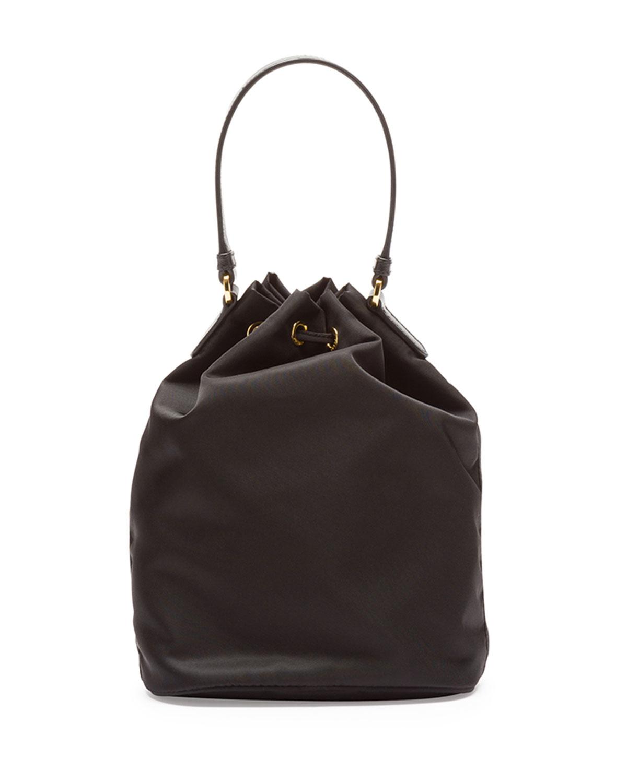 Lyst Prada Tessuto Mini Bucket Bag In Black