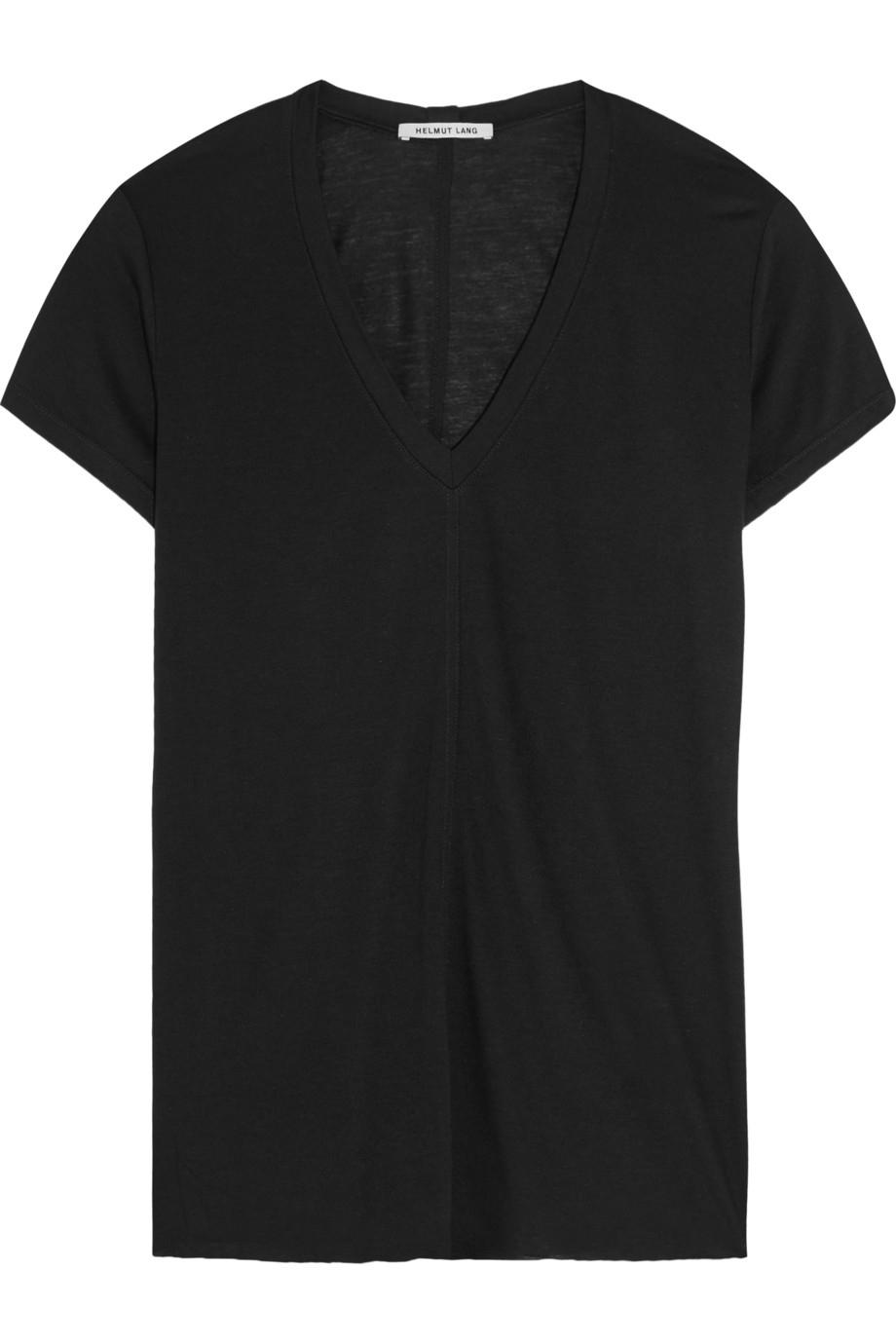 helmut lang micro modal blend jersey t shirt in black lyst. Black Bedroom Furniture Sets. Home Design Ideas