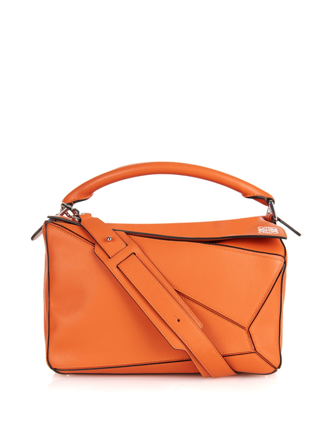 Loewe Leather Puzzle Bag in Orange | Lyst