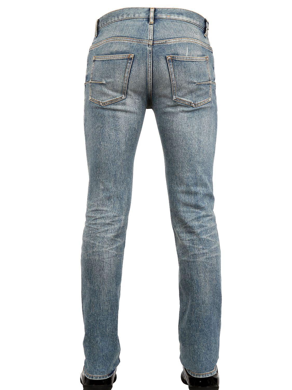 lyst dior homme 17 5cm second round denim jeans in blue. Black Bedroom Furniture Sets. Home Design Ideas