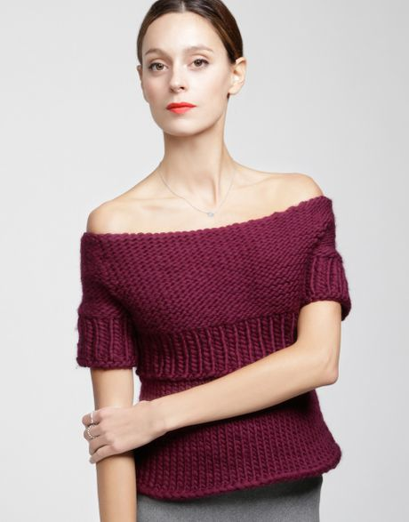 wool and the gang juliet top in red margaux red lyst. Black Bedroom Furniture Sets. Home Design Ideas