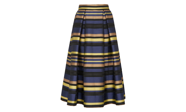 whistles stripe midi skirt in multicolor lyst