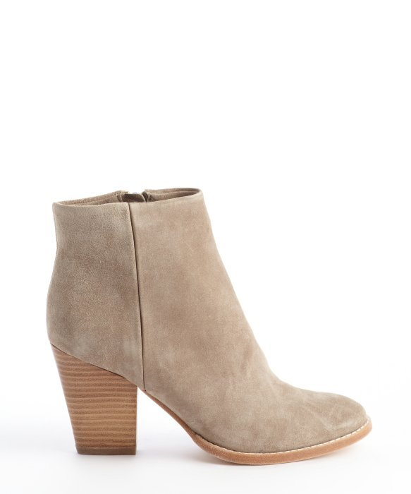 Aerin Stone Suede Clayton Heel Ankle Boots In Natural Lyst