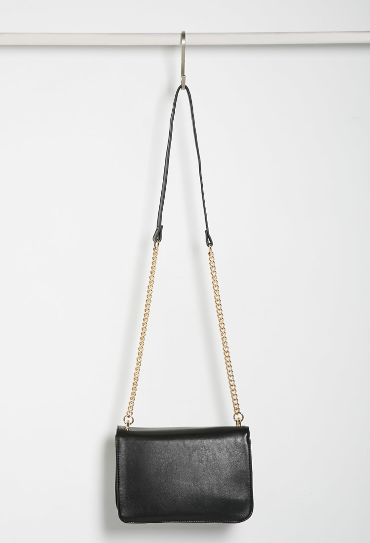 Forever 21 Structured Flap-top Crossbody in Black - Lyst 1b83c72571d90