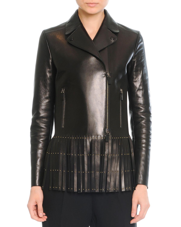 Leather jacket with fringe - Gallery