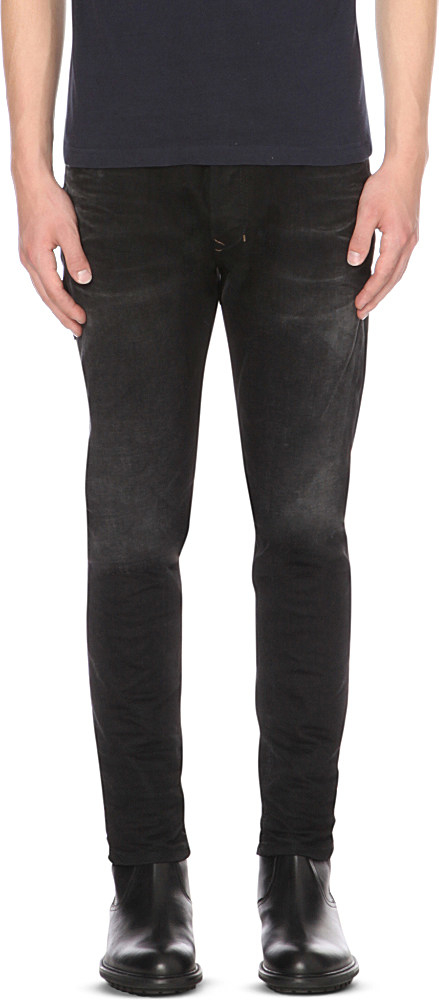 Diesel Tepphar 0666q Slim-fit Tapered Jeans in Black for ...